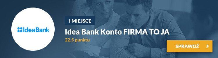 I miejsce - Konto FIRMA TO JA Idea Bank