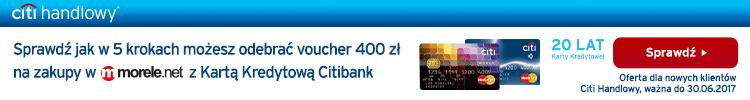 Sprawdź jak w 5 krokach możesz odebrać voucher 400 zł na zakupy w morele.net w Kartą Kredytową Citibank