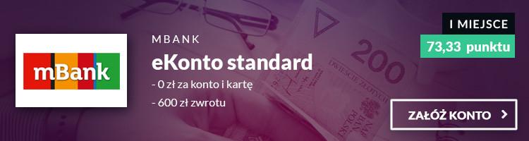 mBank eKonto standard