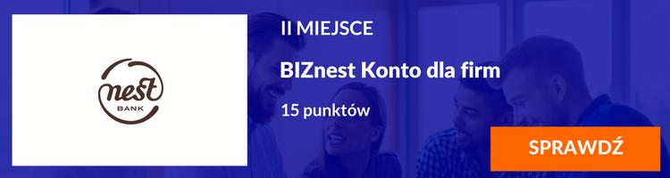 II miejsce BIZnest Konto dla firm Nest Bank