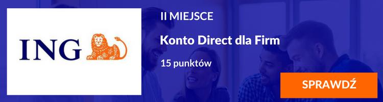 III miejsce Konto Direct dla Firm ING Bank Śląski
