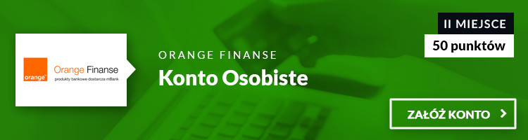III miejsce Konto Osobiste Orange Finanse