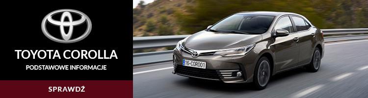 Toyota Corolla podstawowe informacje
